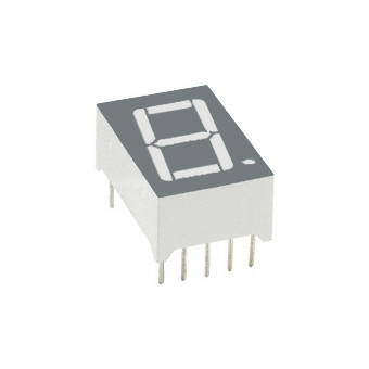 Single LED Digit Display KW1-561CSA, 14.2 mm, common cathode, RED