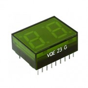 Image of Double LED Digit Display VQE23, 12.7 mm, common cathode, GREEN