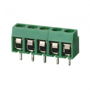 Terminal Block 2P, 5 mm, 10A/250V, 1 5 mm2, wire protector XY126V