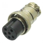 Image of Connector M16/IP40, 6P female, cable type