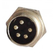 Image of Connector M16/IP40, 5P male, panel type