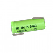 Image of Battery Cell 2/3AAA 1.2V, 400 mAh, Ni-MH (leads)
