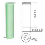 Image of Battery Cell 5/4AAA 1.2V, 1000 mAh, Ni-MH (leads)